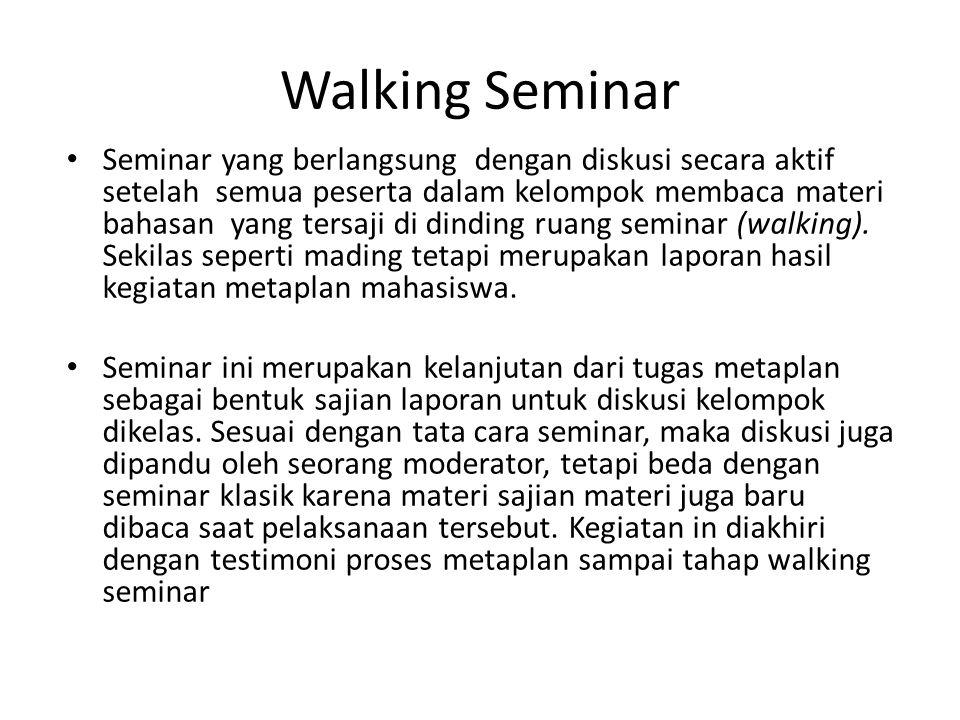 Walking Seminar