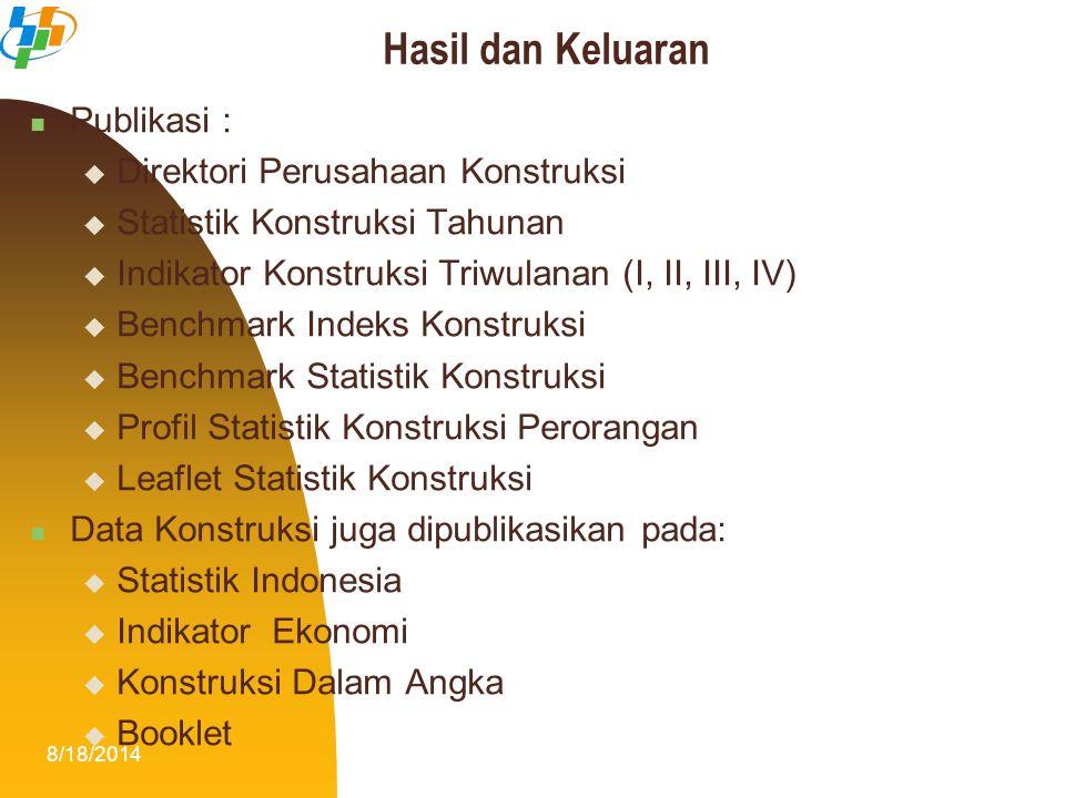 Hasil dan Keluaran Publikasi : Direktori Perusahaan Konstruksi