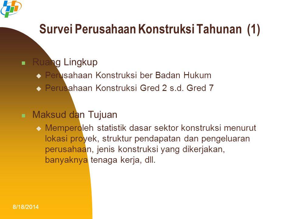 Survei Perusahaan Konstruksi Tahunan (1)