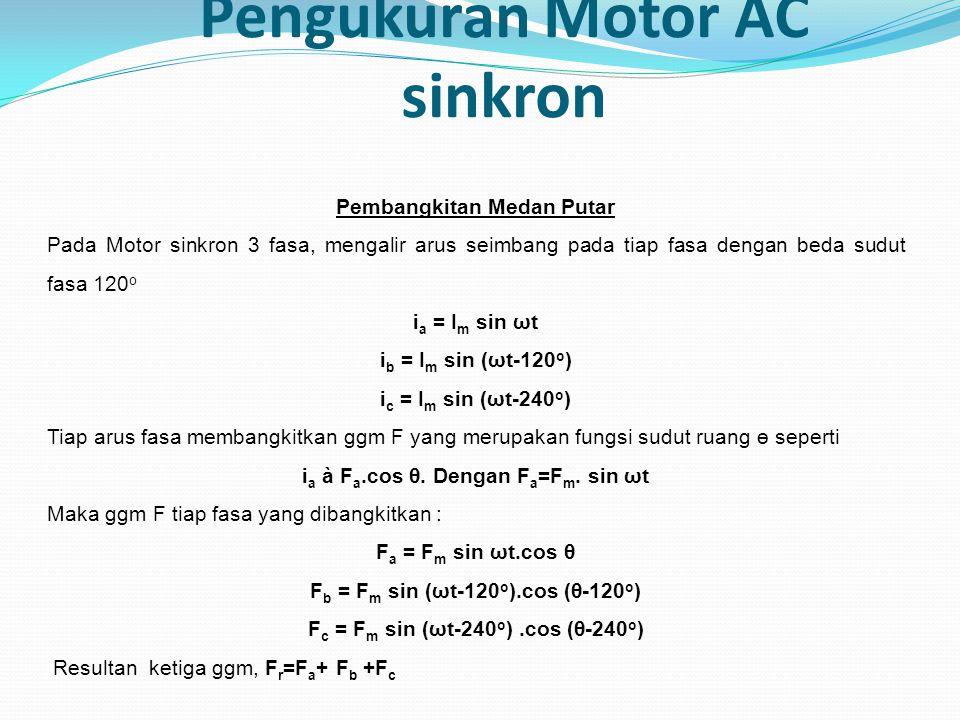 Pengukuran Motor AC sinkron