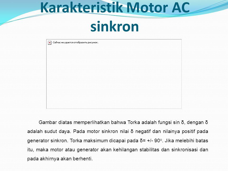 Karakteristik Motor AC sinkron