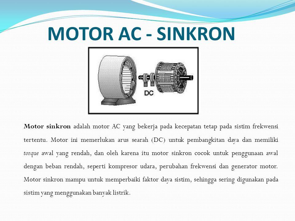 MOTOR AC - SINKRON