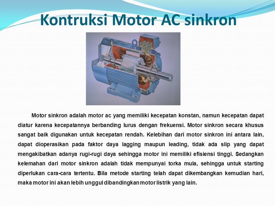 Kontruksi Motor AC sinkron