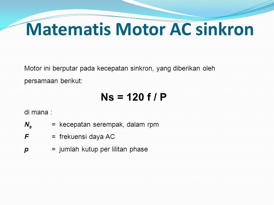 Matematis Motor AC sinkron