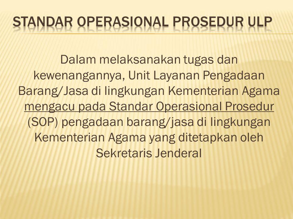 STANDAR OPERASIONAL PROSEDUR ULP