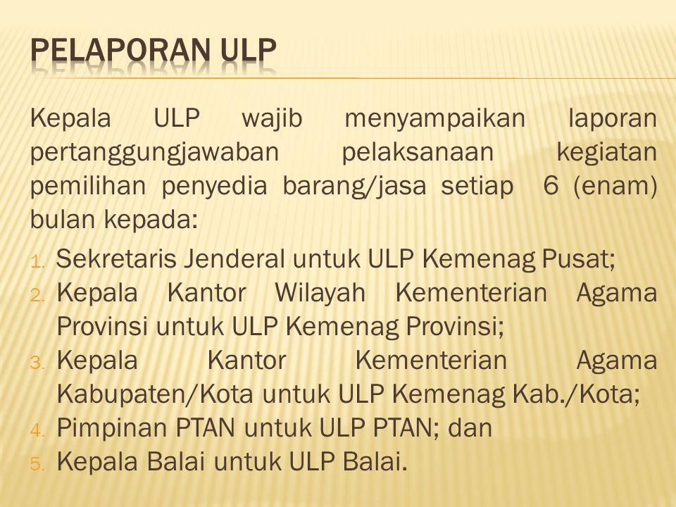 PELAPORAN ULP
