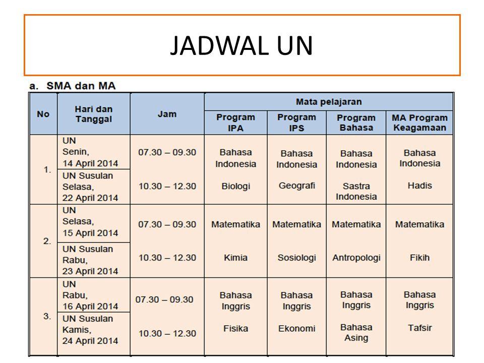 JADWAL UN