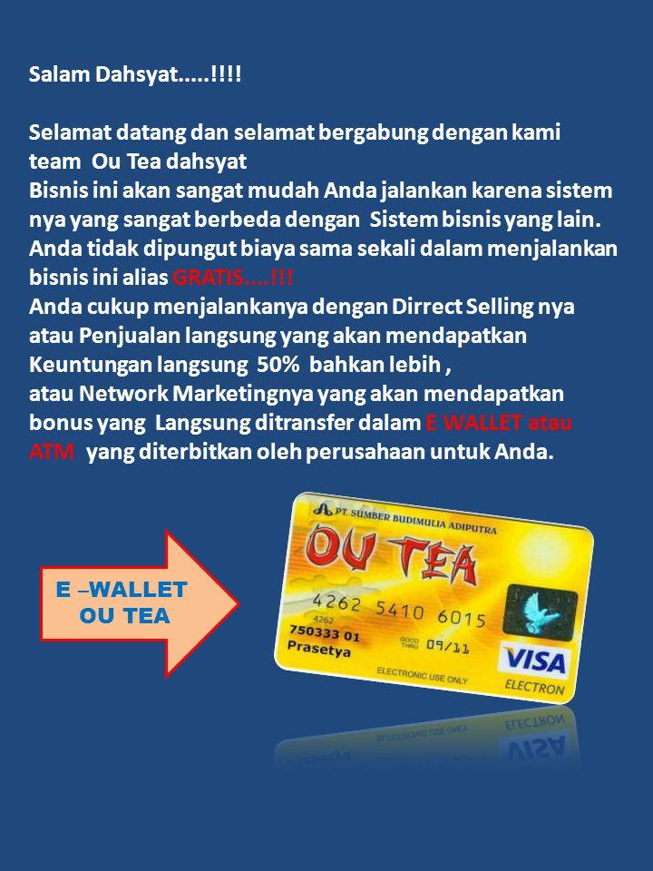 Selamat datang dan selamat bergabung dengan kami team Ou Tea dahsyat