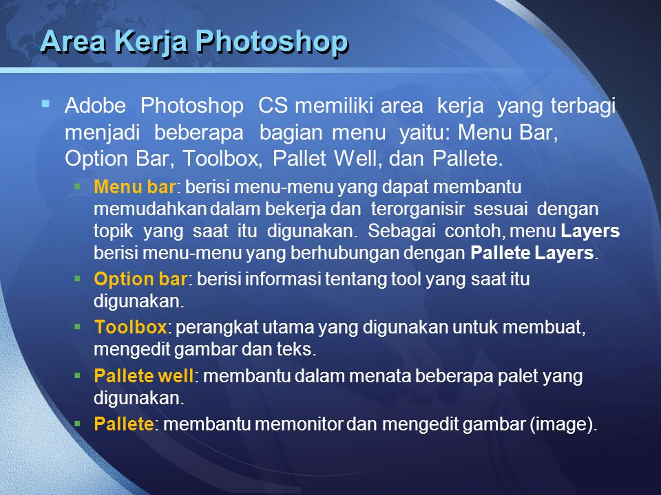 Area Kerja Photoshop