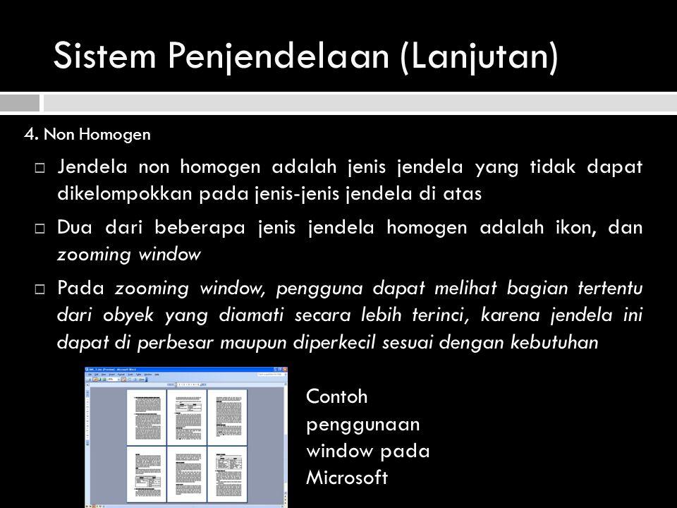 Sistem Penjendelaan (Lanjutan)