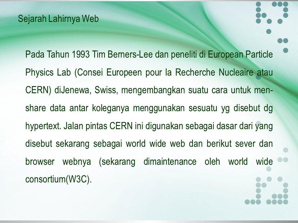 Sejarah Lahirnya Web
