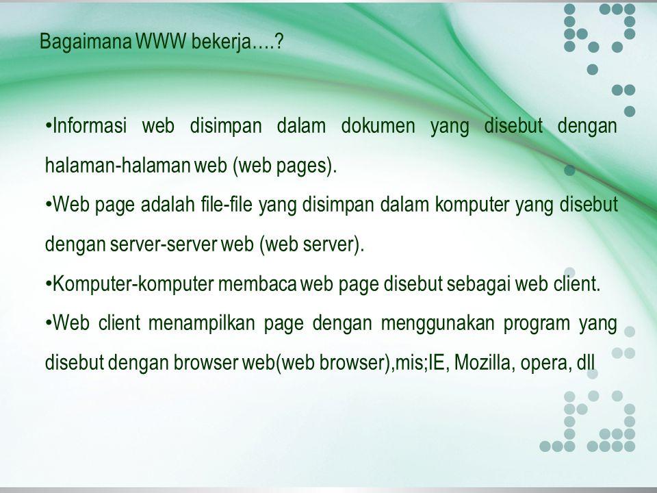 Bagaimana WWW bekerja….