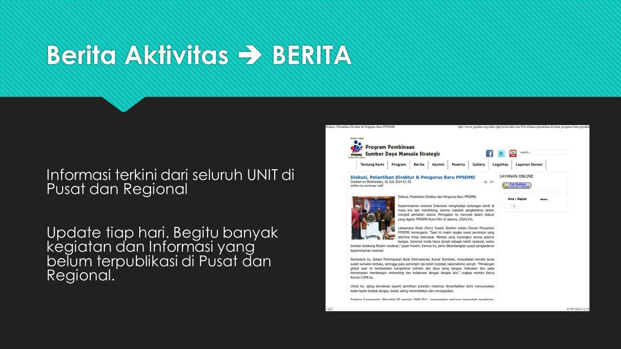 Berita Aktivitas  BERITA