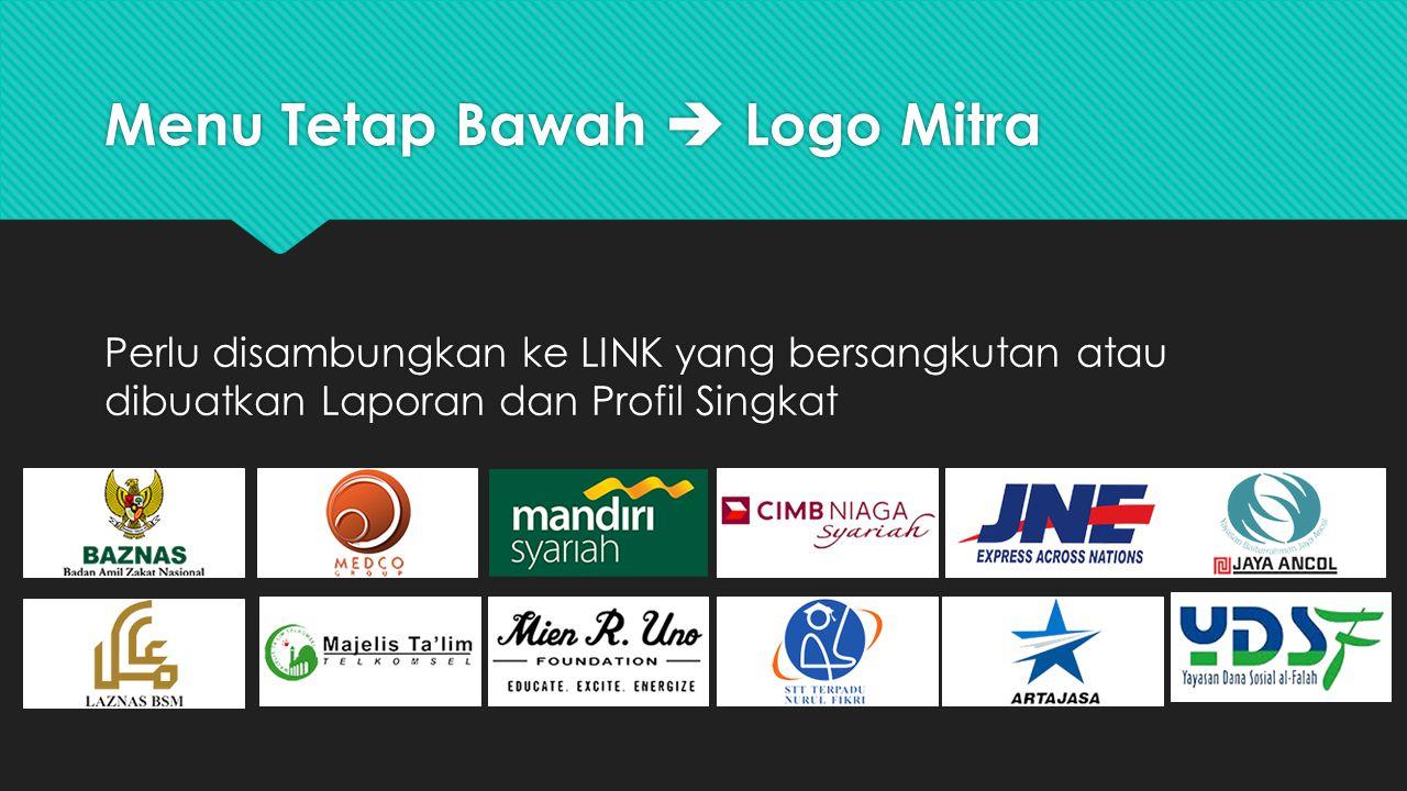 Menu Tetap Bawah  Logo Mitra