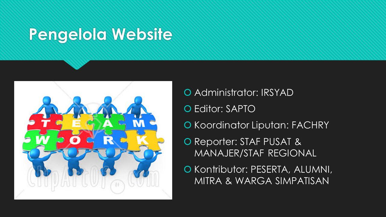 Pengelola Website Administrator: IRSYAD Editor: SAPTO