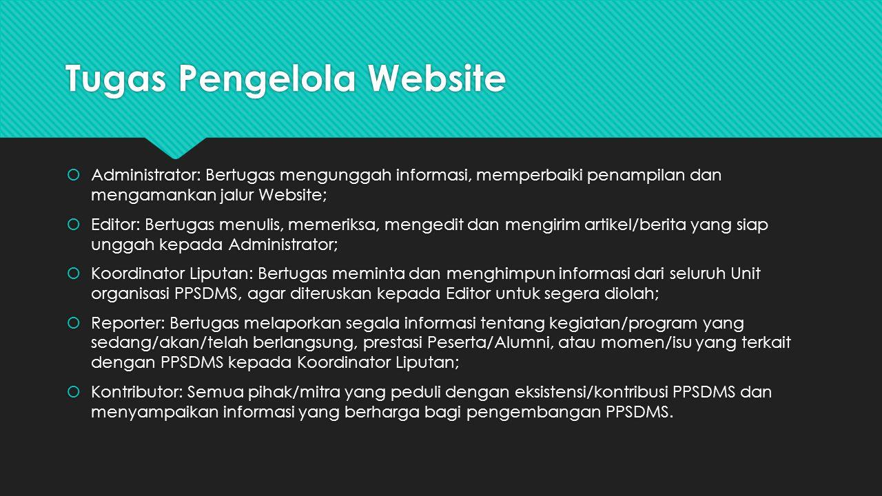 Tugas Pengelola Website
