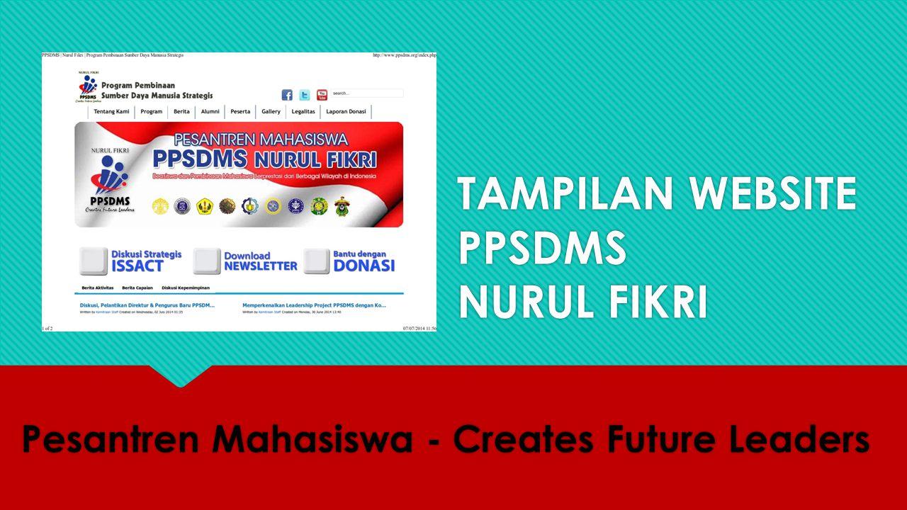 TAMPILAN WEBSITE PPSDMS NURUL FIKRI