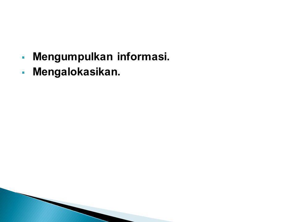 Mengumpulkan informasi.