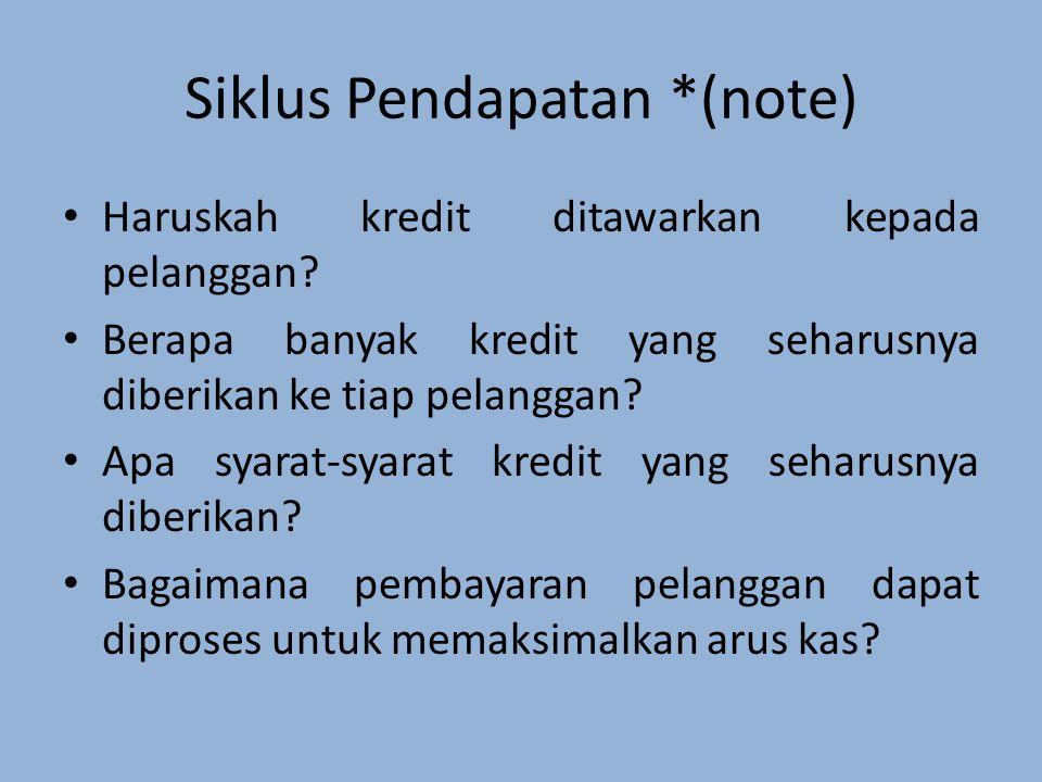 Siklus Pendapatan *(note)