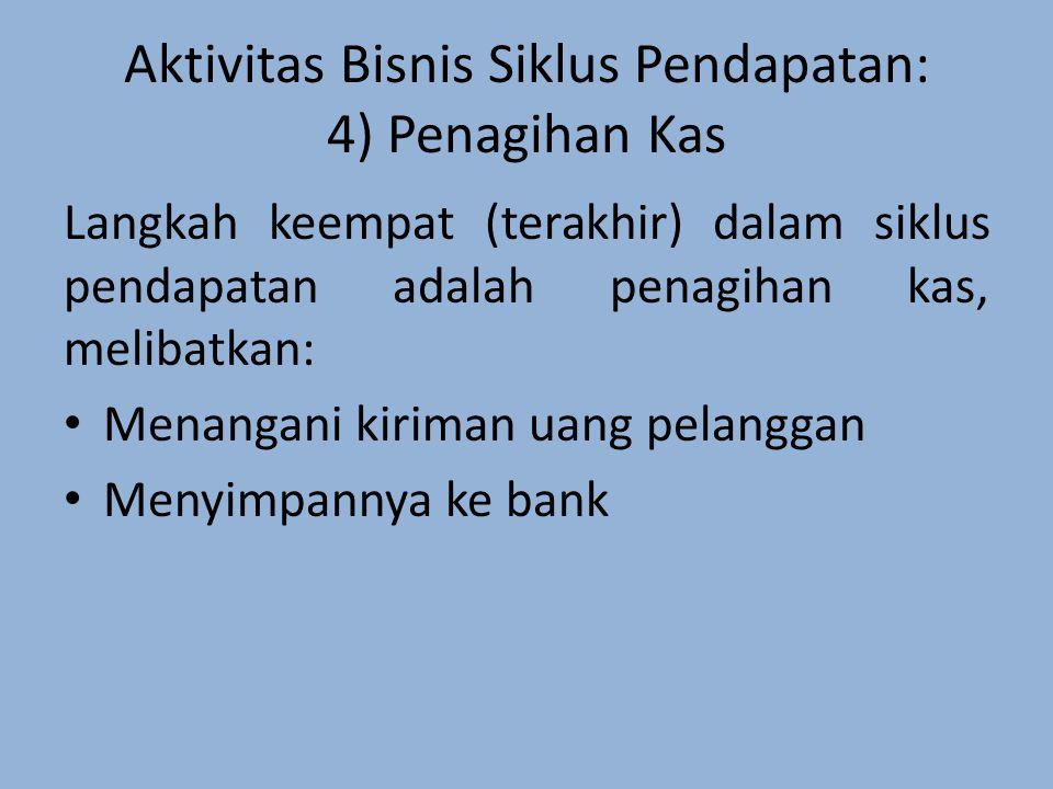 Aktivitas Bisnis Siklus Pendapatan: 4) Penagihan Kas