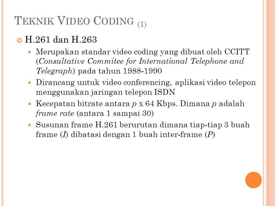 Teknik Video Coding (1) H.261 dan H.263