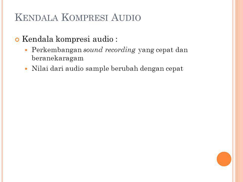 Kendala Kompresi Audio