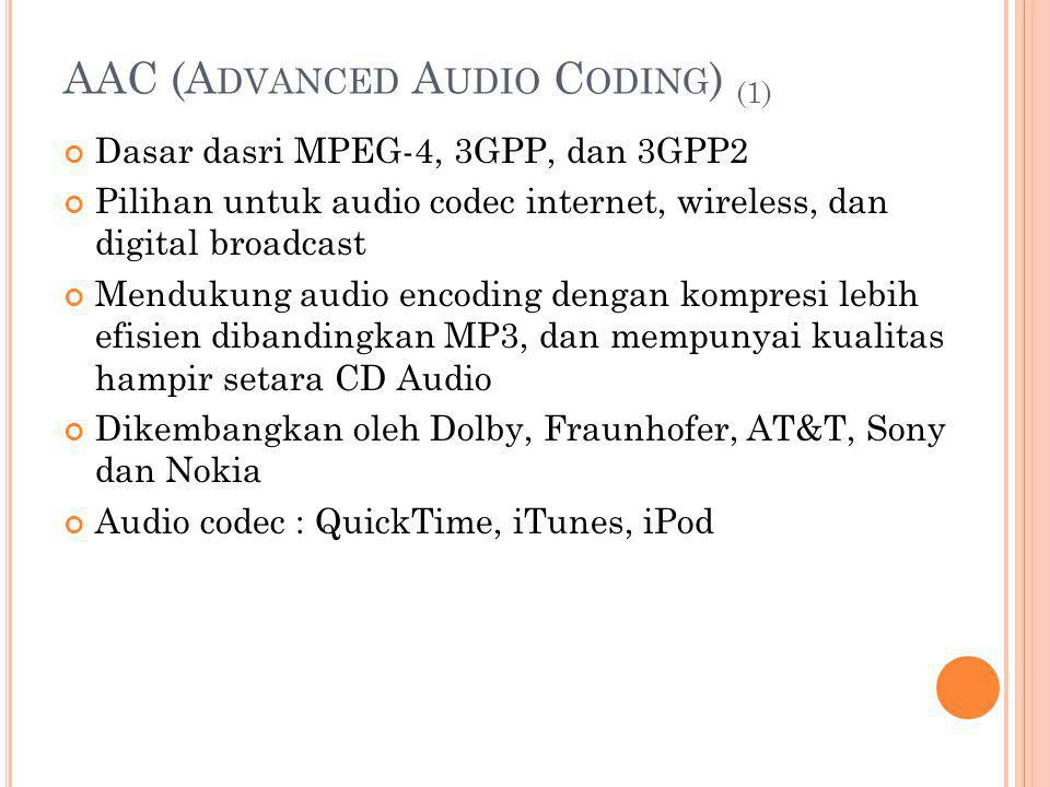 AAC (Advanced Audio Coding) (1)