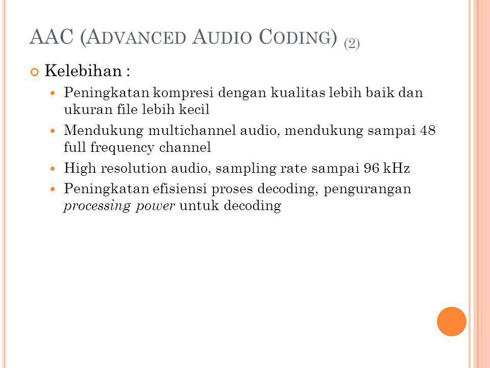 AAC (Advanced Audio Coding) (2)