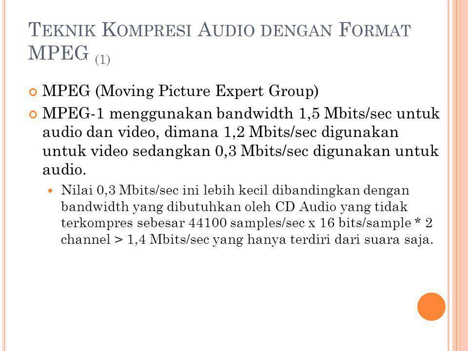 Teknik Kompresi Audio dengan Format MPEG (1)