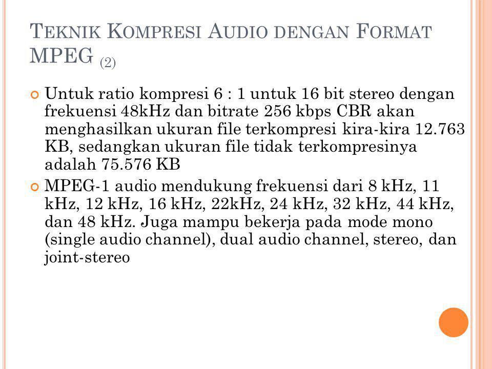 Teknik Kompresi Audio dengan Format MPEG (2)