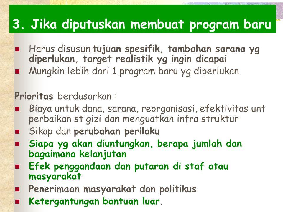 3. Jika diputuskan membuat program baru