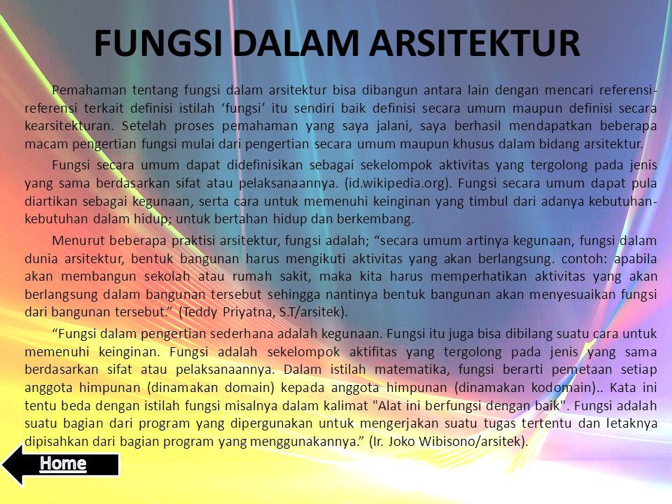 FUNGSI DALAM ARSITEKTUR