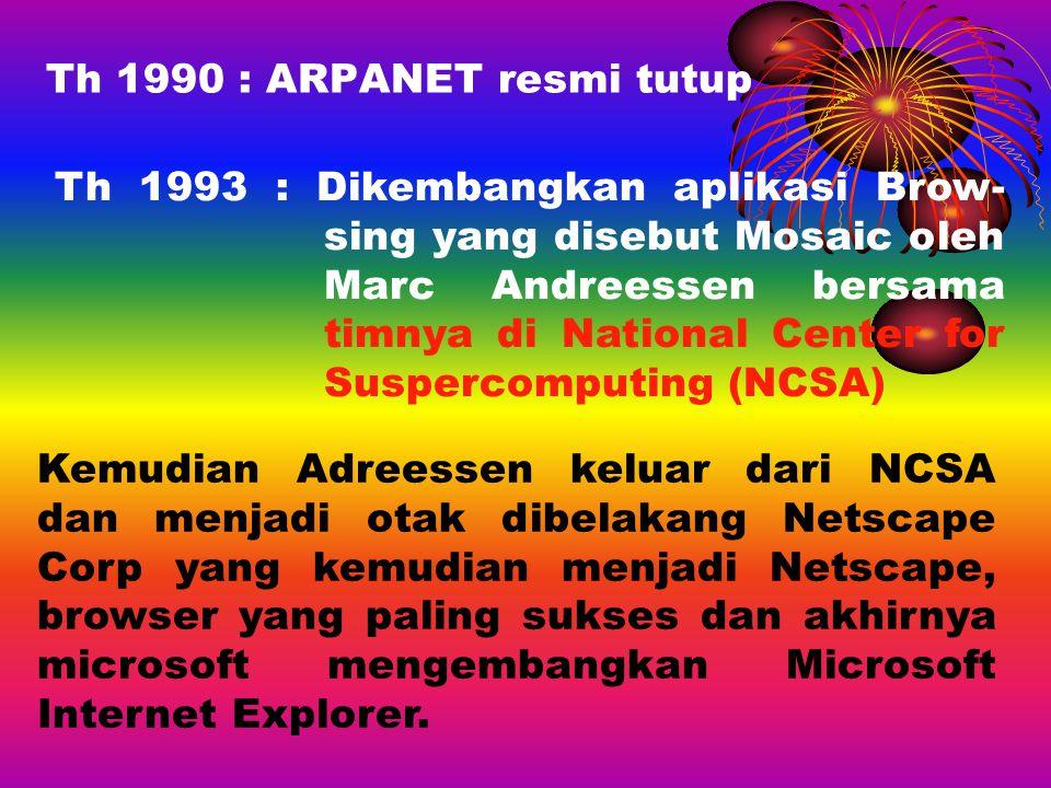Th 1990 : ARPANET resmi tutup