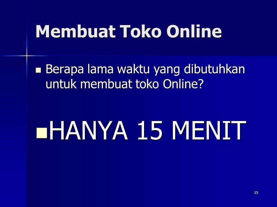 HANYA 15 MENIT Membuat Toko Online
