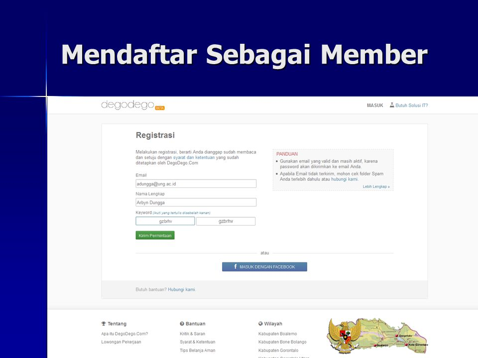 Mendaftar Sebagai Member