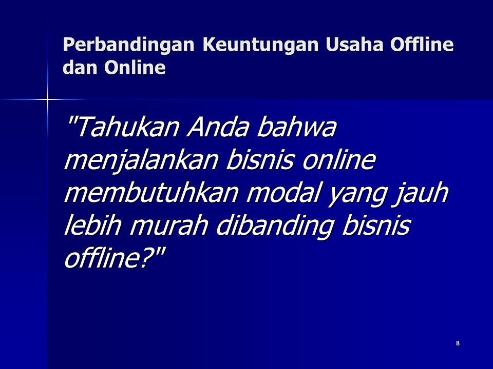 Perbandingan Keuntungan Usaha Offline dan Online