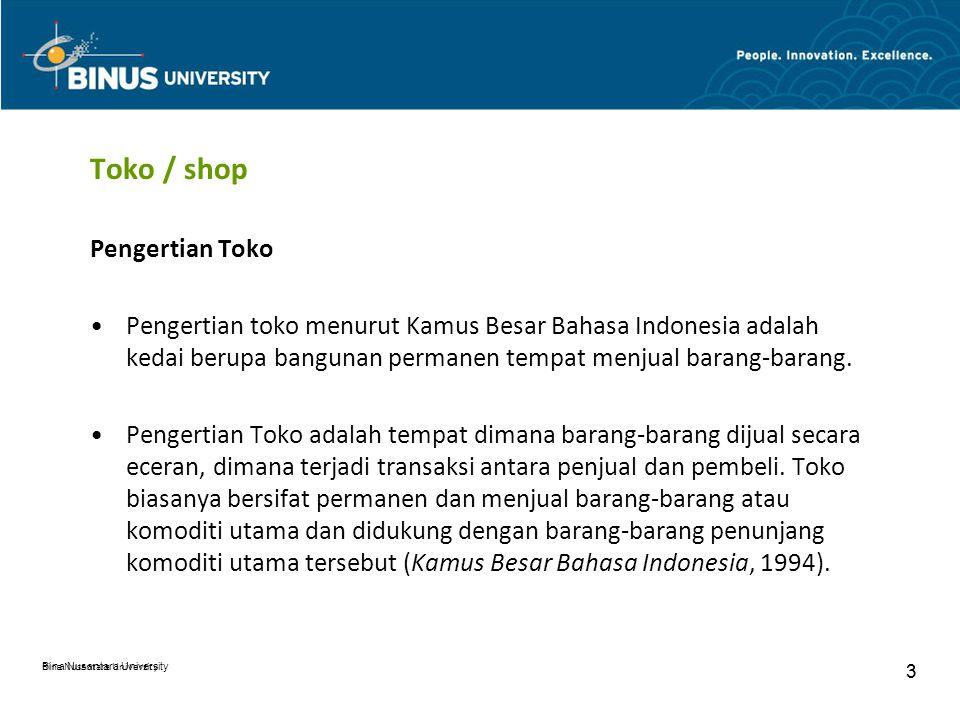 Toko / shop Pengertian Toko