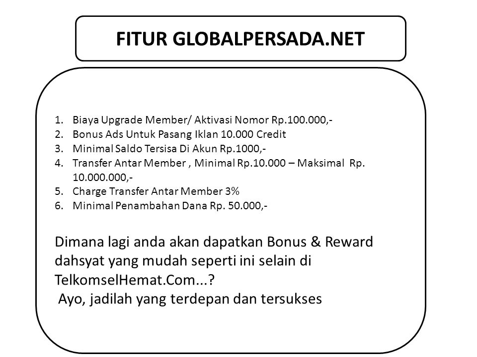 FITUR GLOBALPERSADA.NET