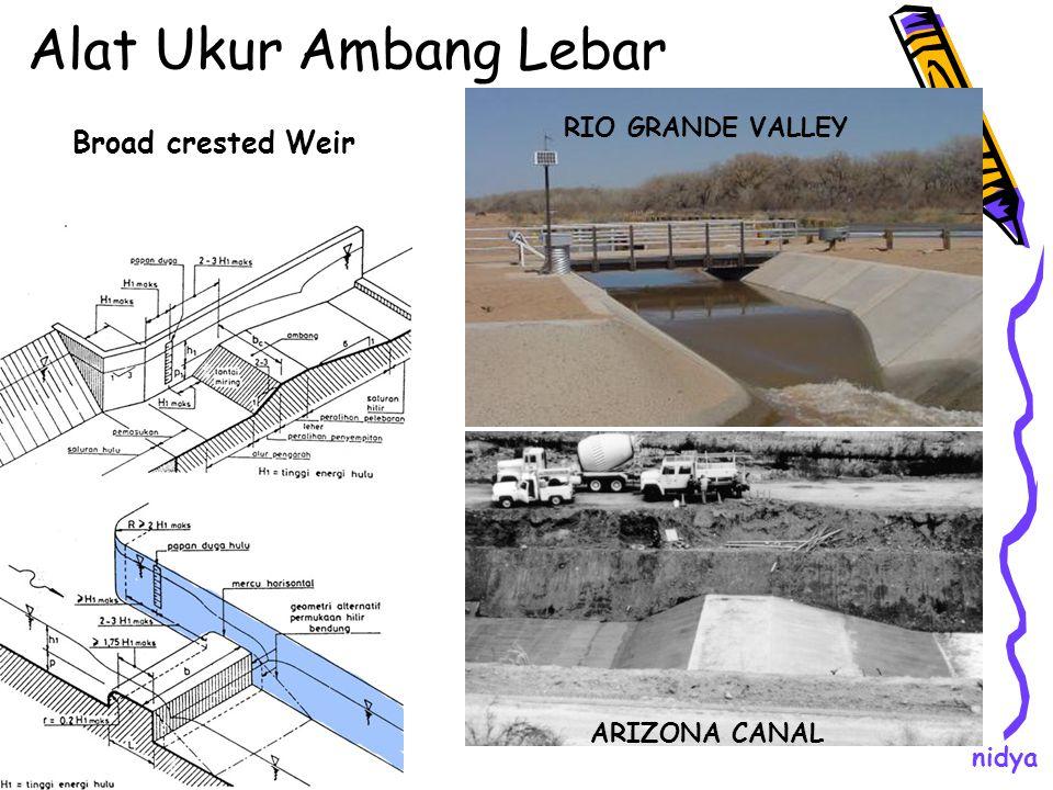 Alat Ukur Ambang Lebar Broad crested Weir RIO GRANDE VALLEY