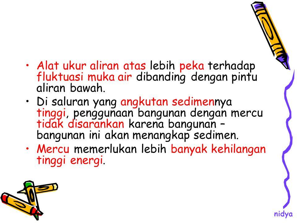 Mercu memerlukan lebih banyak kehilangan tinggi energi.