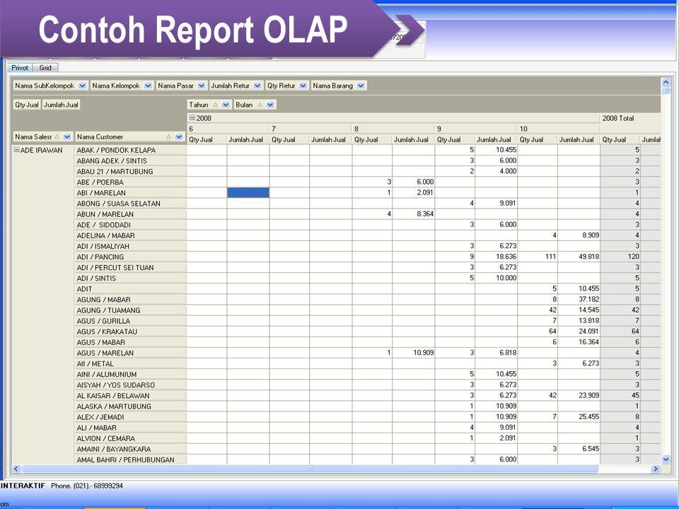 Contoh Report OLAP