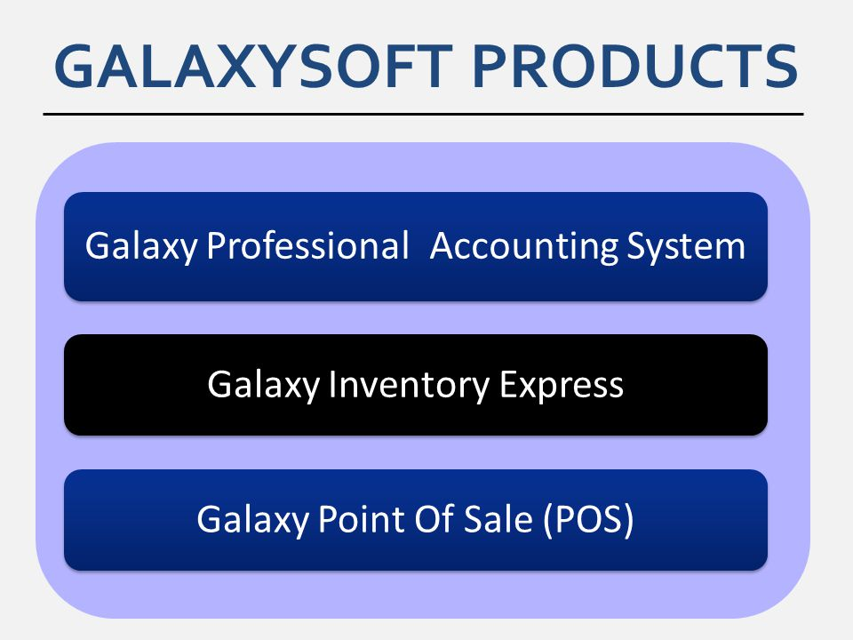 GALAXYSOFT PRODUCTS Galaxy Inventory Express