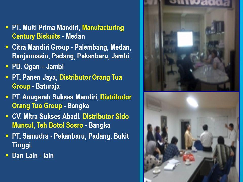 PT. Multi Prima Mandiri, Manufacturing Century Biskuits - Medan