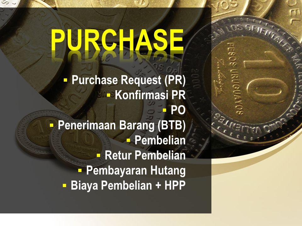 PURCHASE Purchase Request (PR) Konfirmasi PR PO
