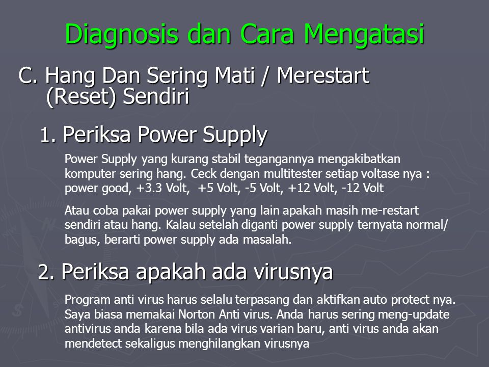 Diagnosis dan Cara Mengatasi