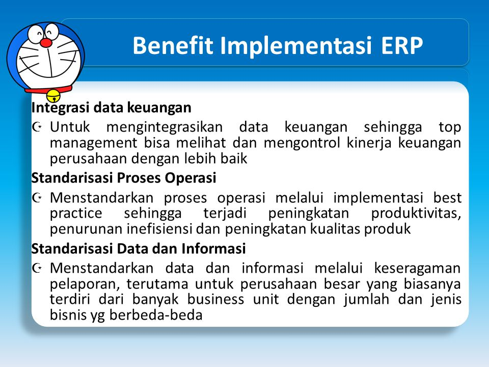 Benefit Implementasi ERP
