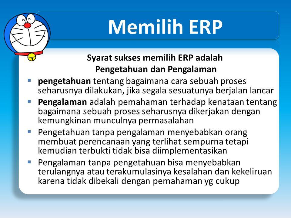Syarat sukses memilih ERP adalah
