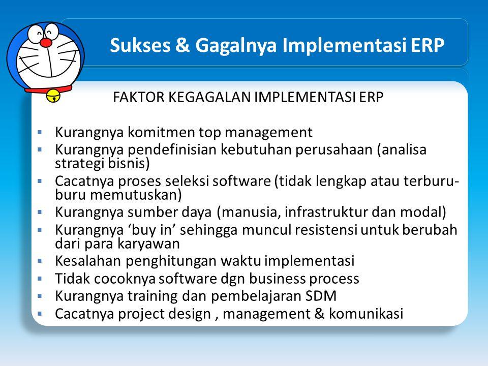 Sukses & Gagalnya Implementasi ERP