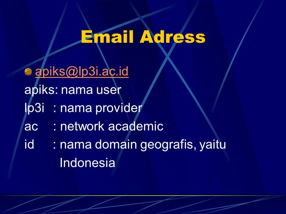 Email Adress apiks@lp3i.ac.id apiks: nama user lp3i : nama provider