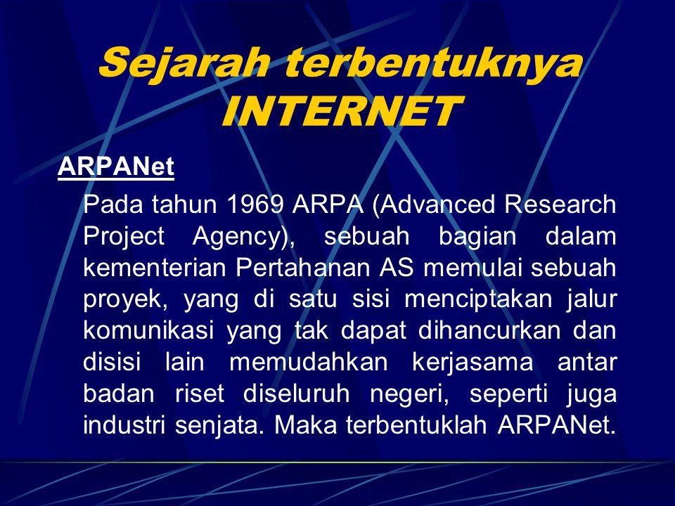 Sejarah terbentuknya INTERNET